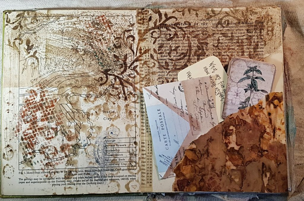 Junk Journal Layout with TGF Cards and Envelopes