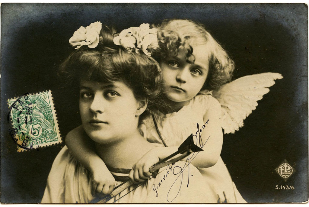 Old Photo Cupid Angel