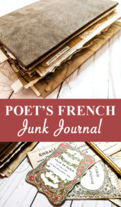 Poet's French Junk Journal Pin Image