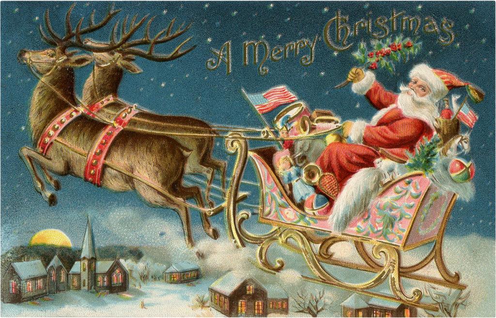 Santa Sleigh Ride Image