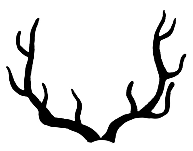 Antlers Silhouette Image