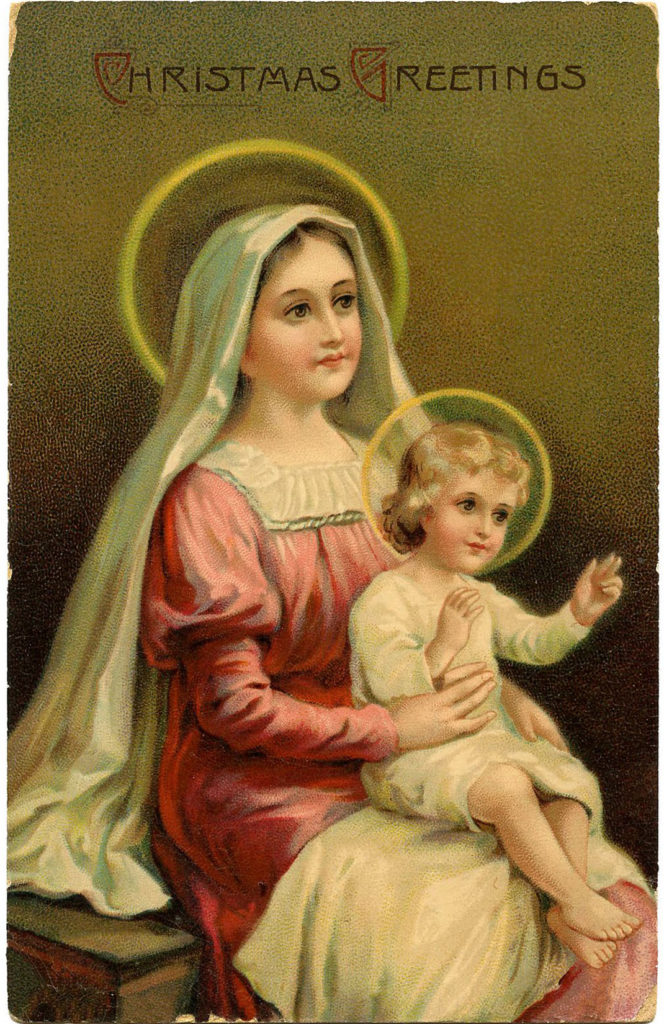 Madonna holding Child Image