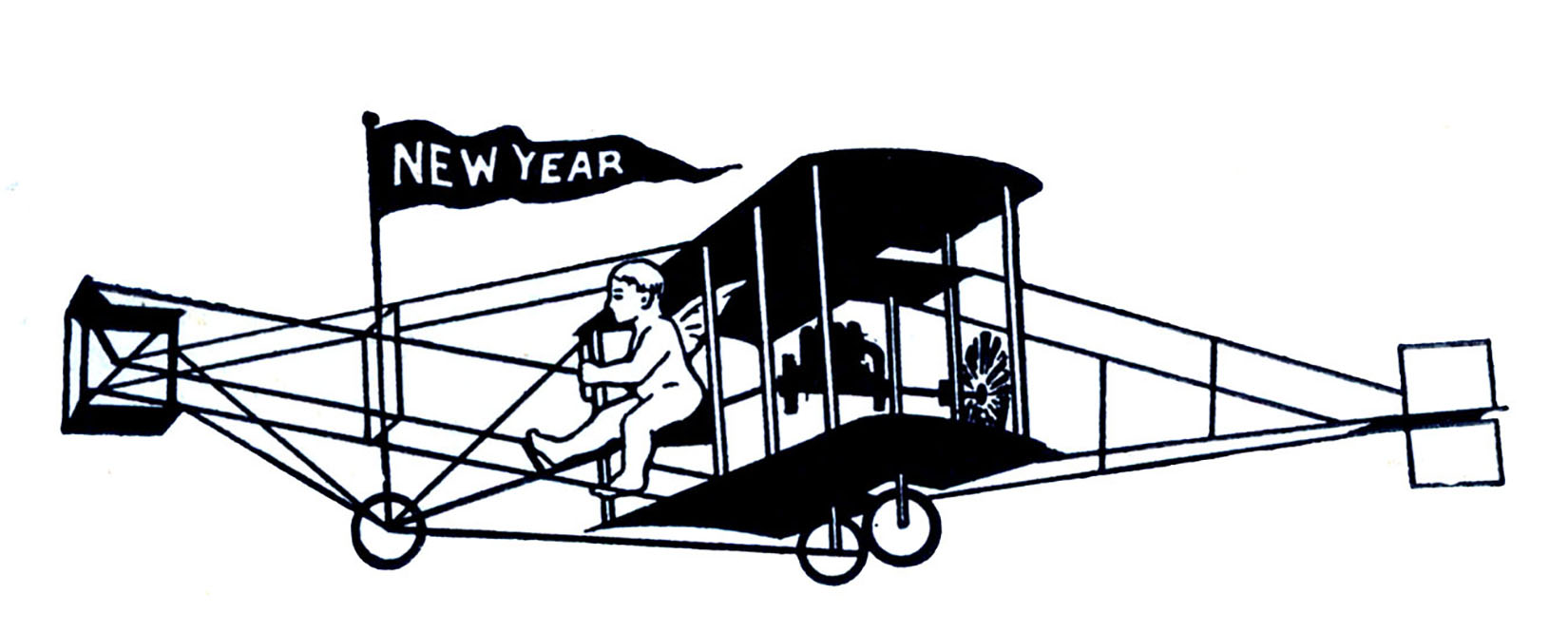 10 Black And White New Year Clipart The Graphics Fairy