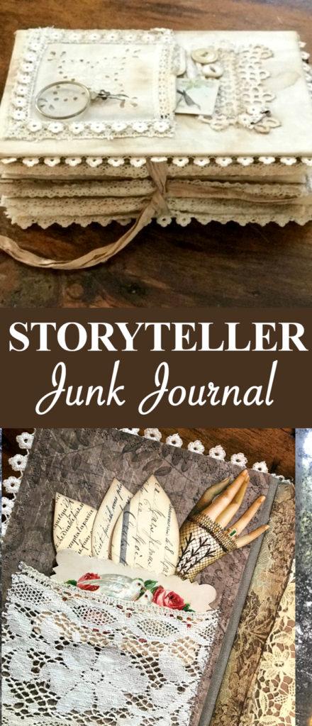 Storyteller Junk Journal Pin