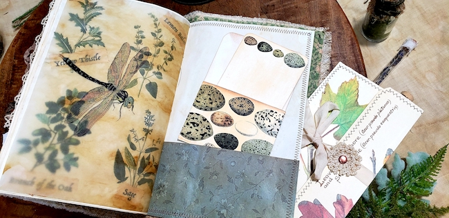 Dragonfly Eggs Softcover Forest Junk Journal 2