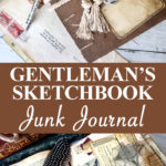 Gentlemans Sketchbook Junk Journal pin