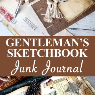 Gentlemans Sketchbook Junk Journal pin