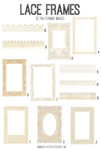 Paper Lace Frames Digital Bundle