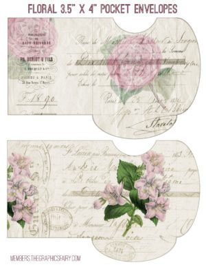 Printable Floral Envelopes