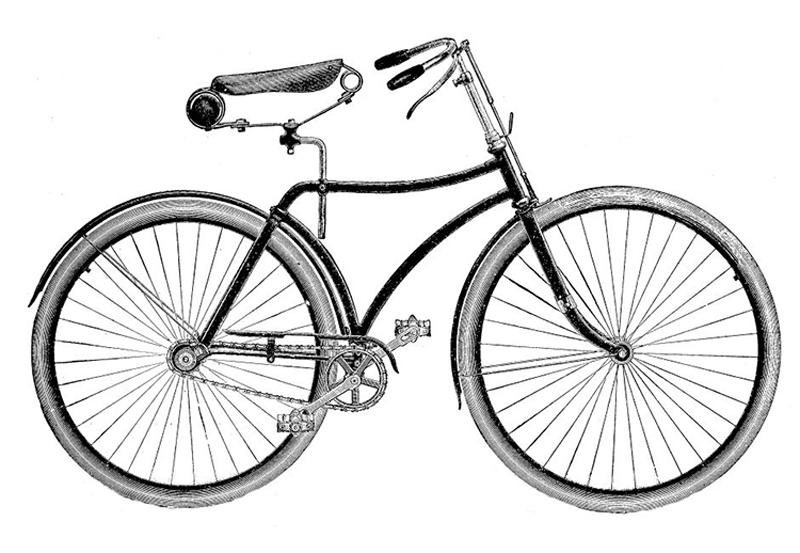 Vintage Bike Clip Art