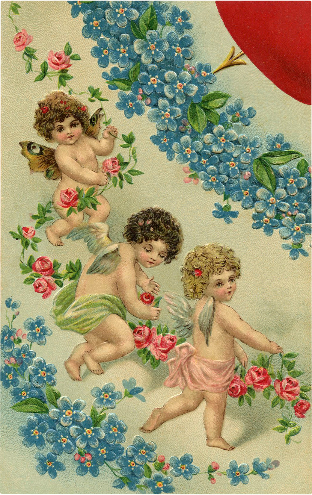 Valentine's Day Flowers and Fairies