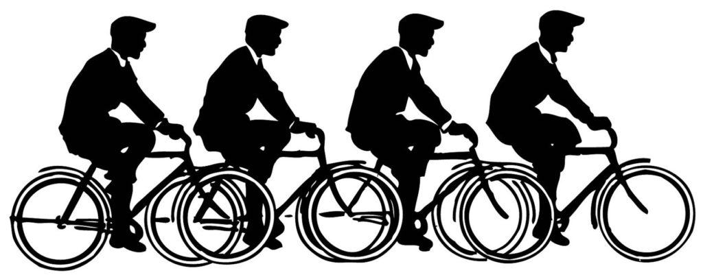 Bicycle Men Silhouette Image