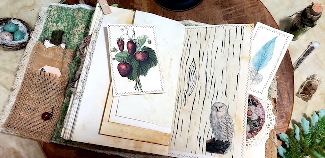 Berries Owl Softcover Forest Junk Journal