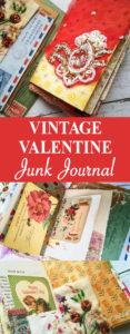 Vintage Valentine Junk Journal Pin
