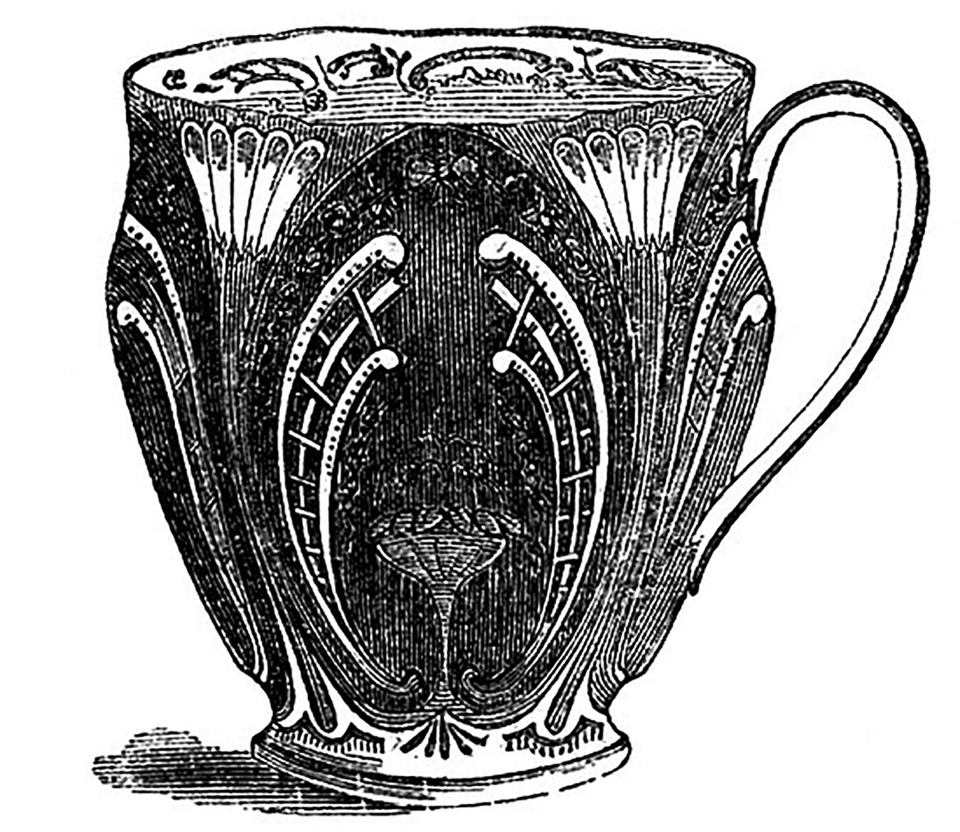 Art Nouveau Teacup Image
