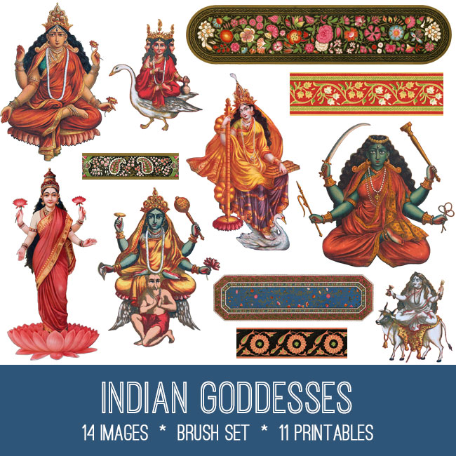 Indian Goddesses Image Kit