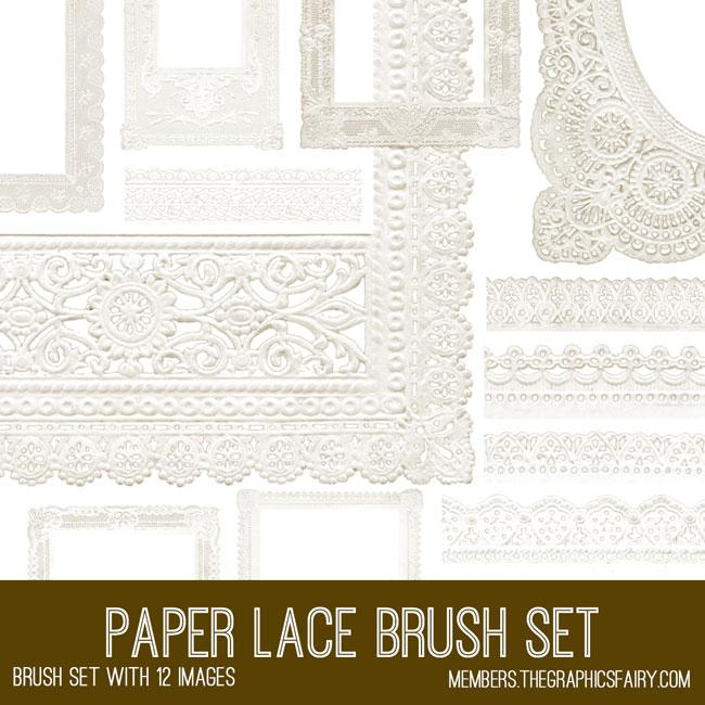 Paper Lace Digital Brush Set