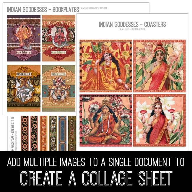 Learn how to Create Digital Collage Sheets