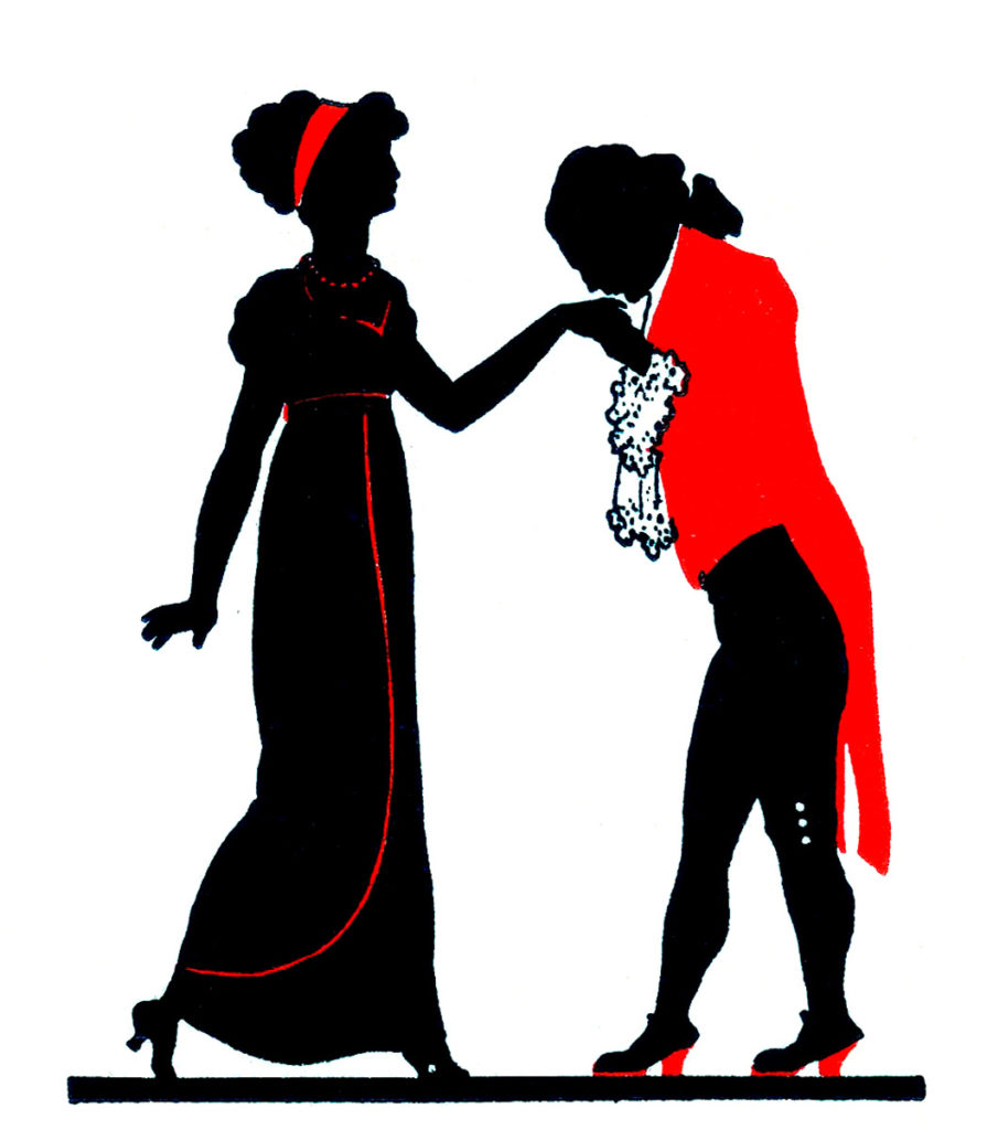 Valentine Silhouette Couple Red Jacket