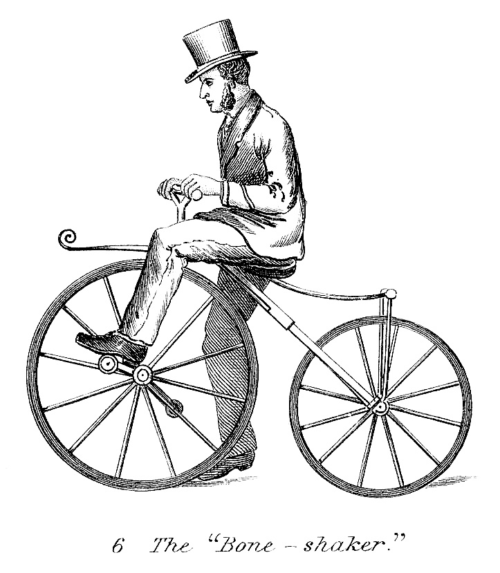 Vintage Odd Bicycle Clip Art Image