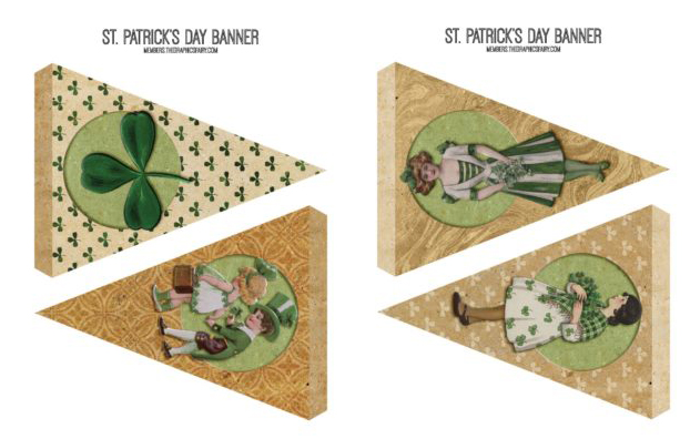 St Patrick's Day Party Banner