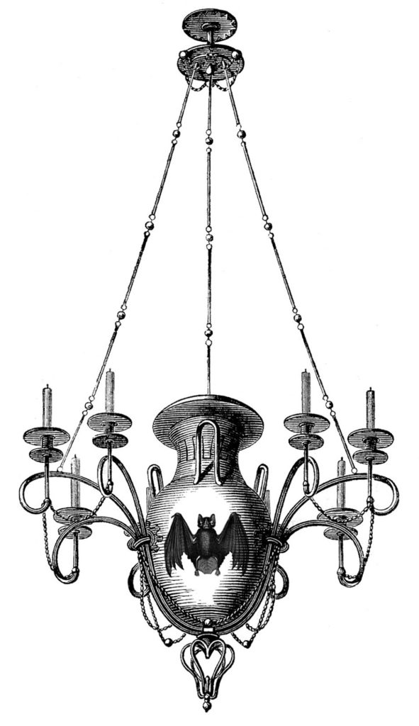 Gothic Chandelier Image with Bat