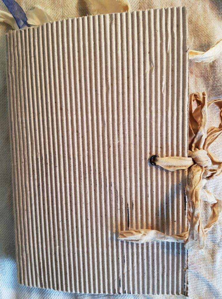 Food Diary Junk Journal Corrugated Cover