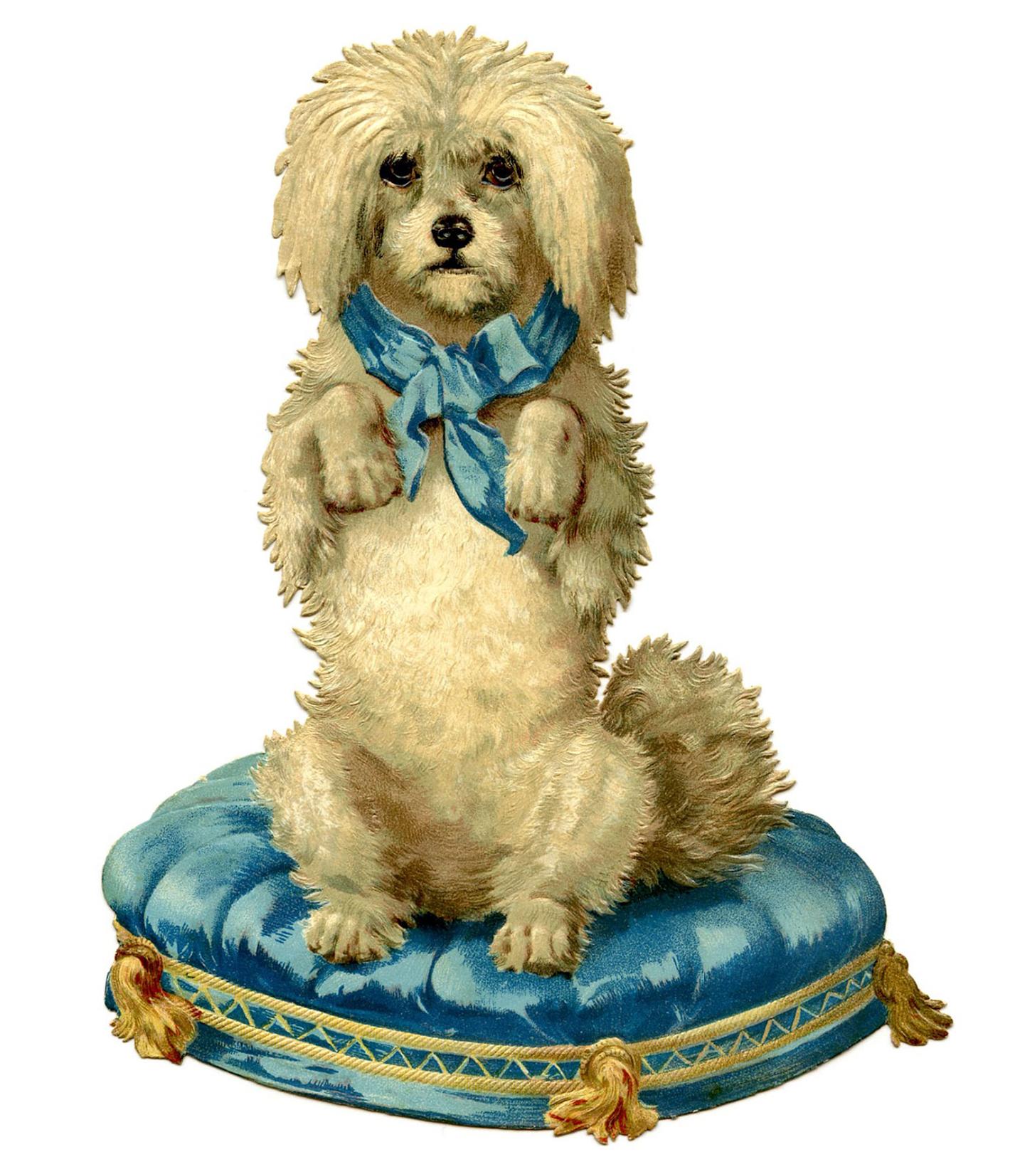 Dog-Cushion-Vintage-Image-GraphicsFairy