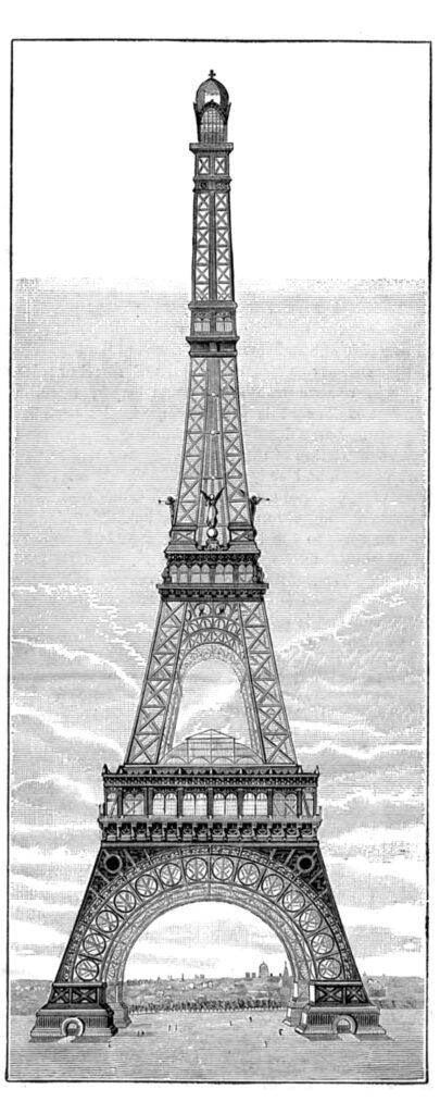 Tall skinny Eiffel Towel Image