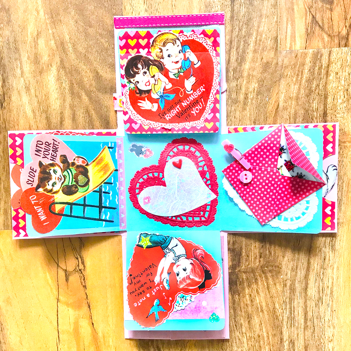 Candy Valentine Exploding Box DIY!