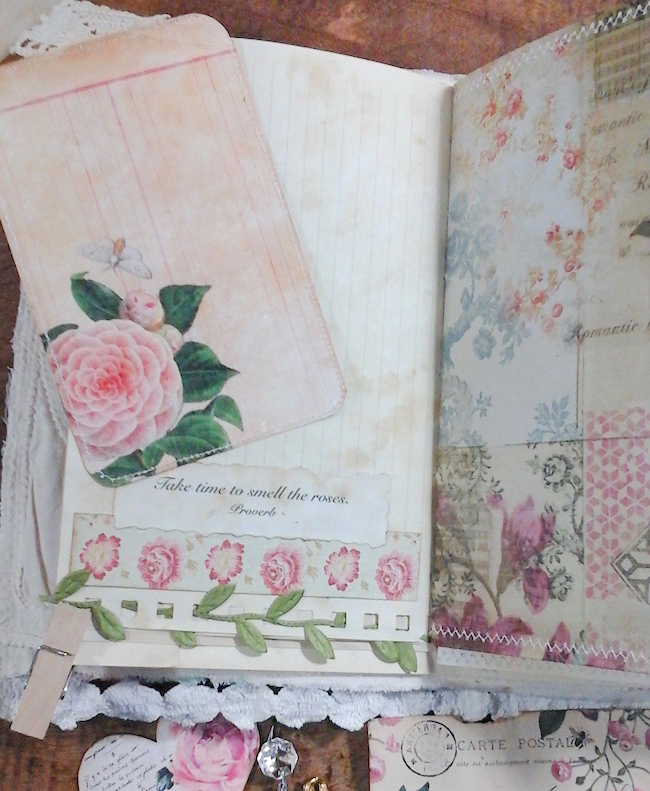 Ode to the Rose Journaling Card