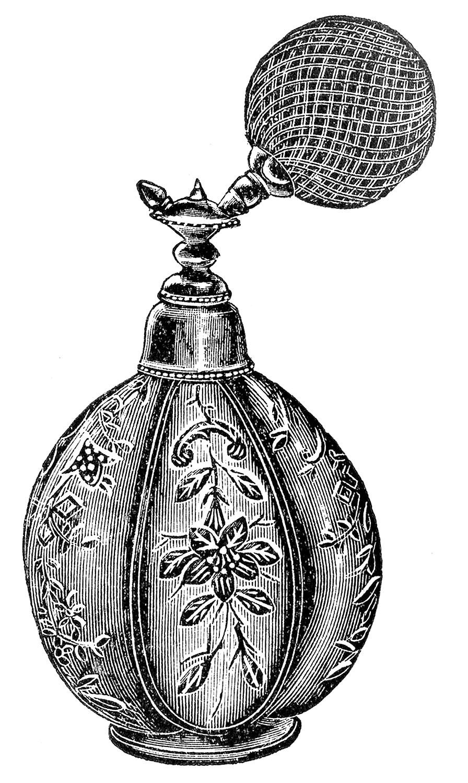 Floral Perfume Atomizer Vintage