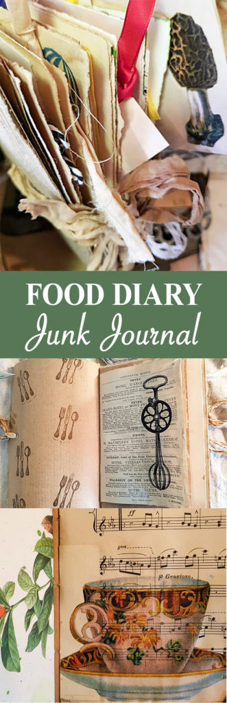 Food Diary Junk Journal Pin