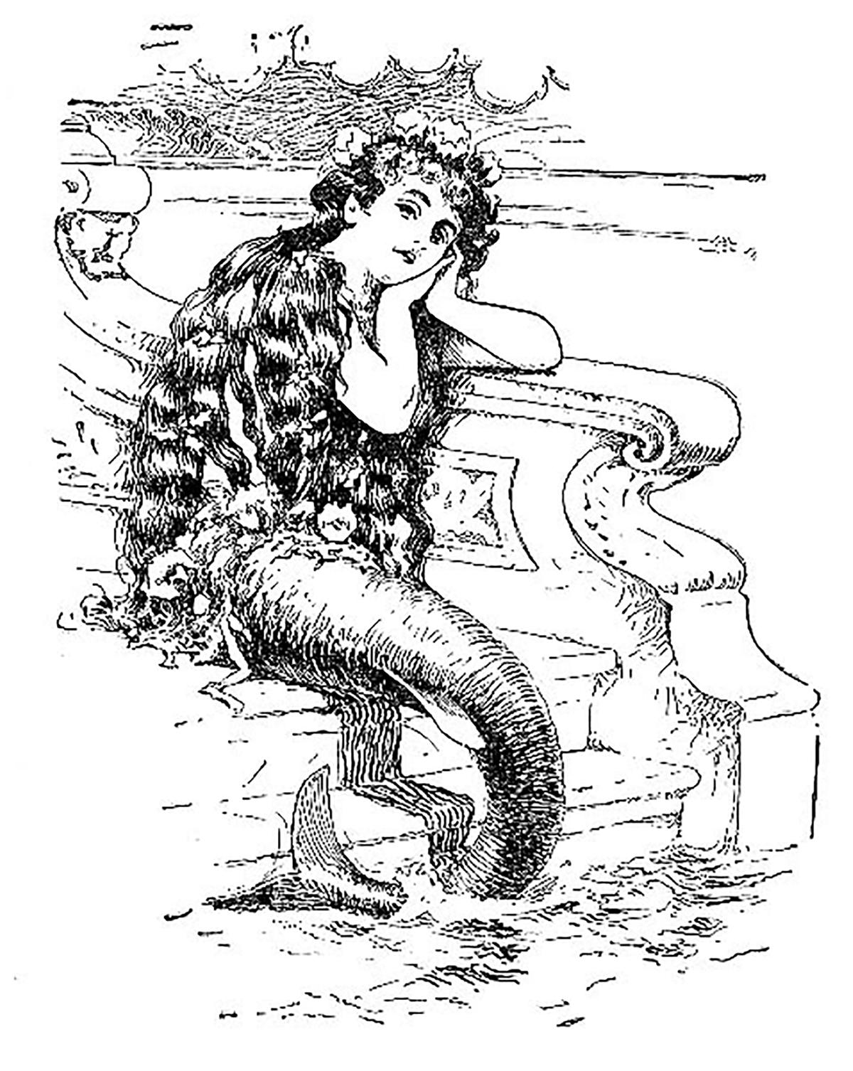 Mermaid on steps
