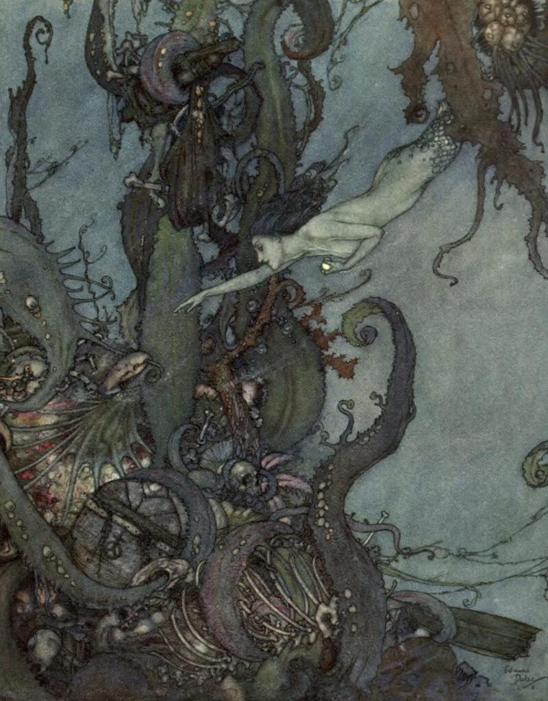 Mermaid Under Water Image