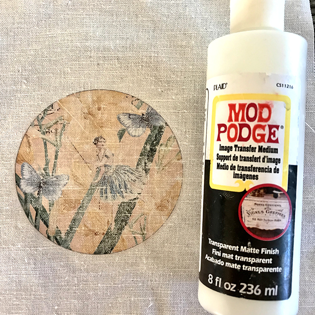 Mod Podge Image Transfer to Fabric