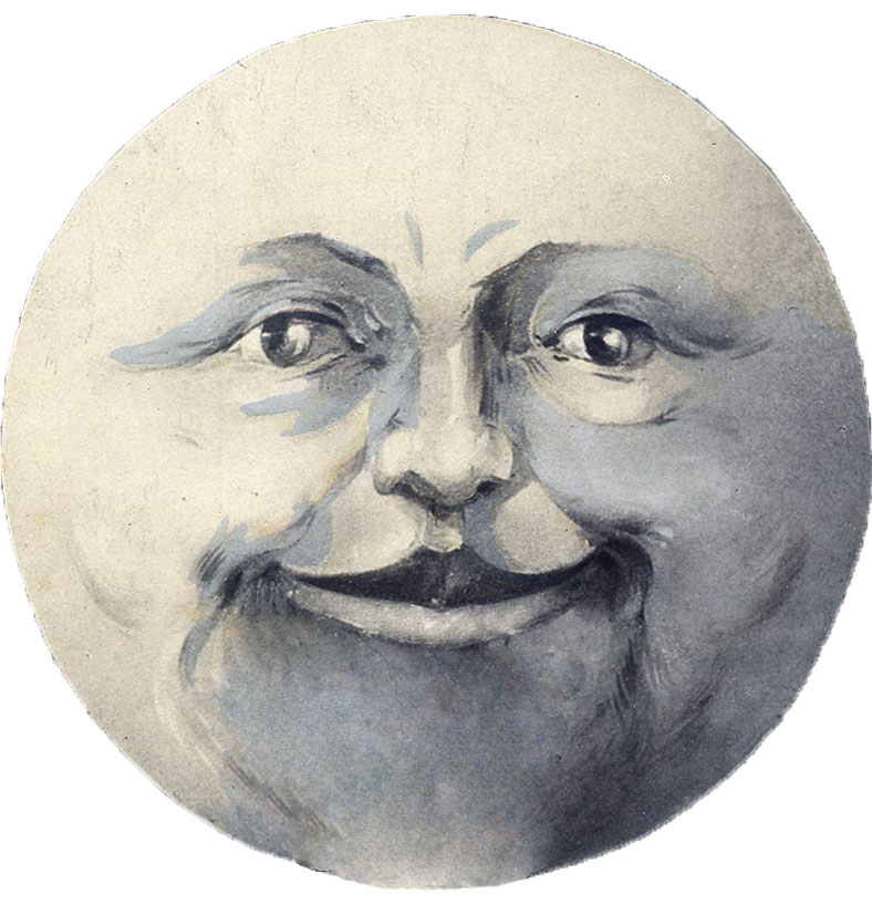 Vintage Moon Clipart Moon Man