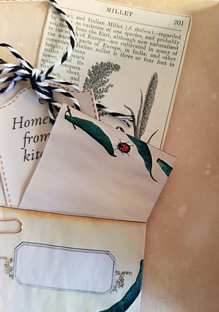 Junk Journal Pocket with Green Beans