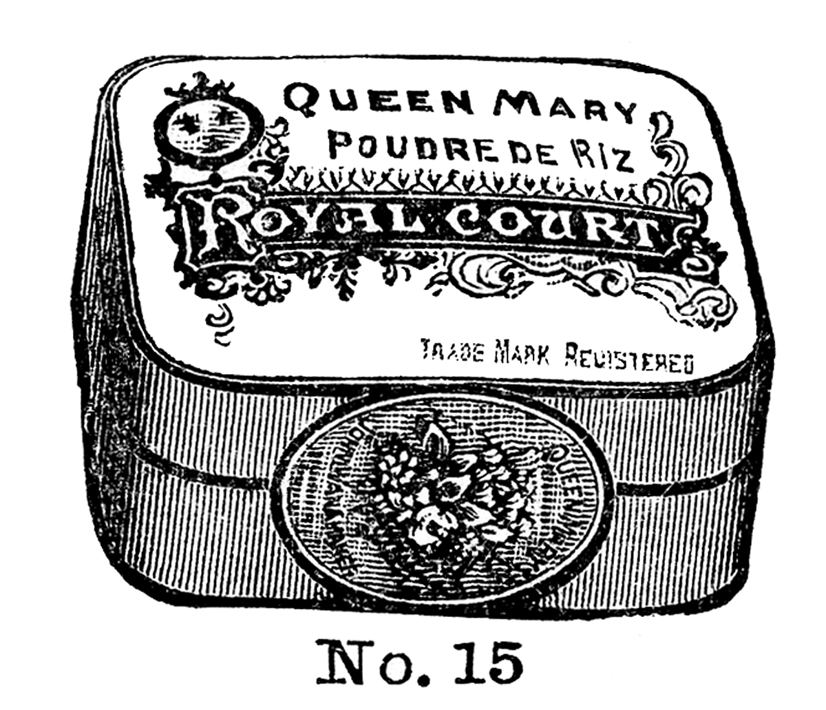 Queen Mary Powders Tin Vintage