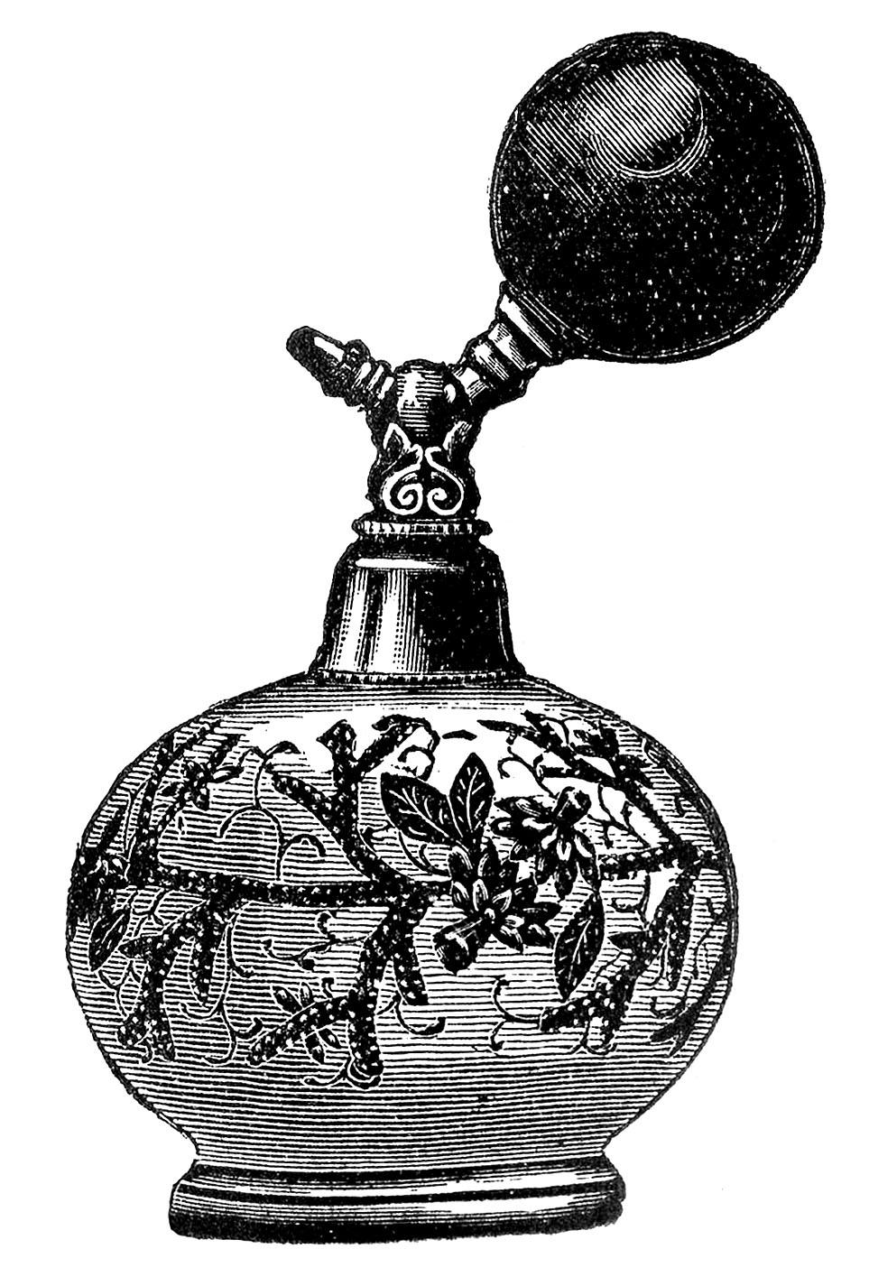 Round Perfume Atomizer Vintage