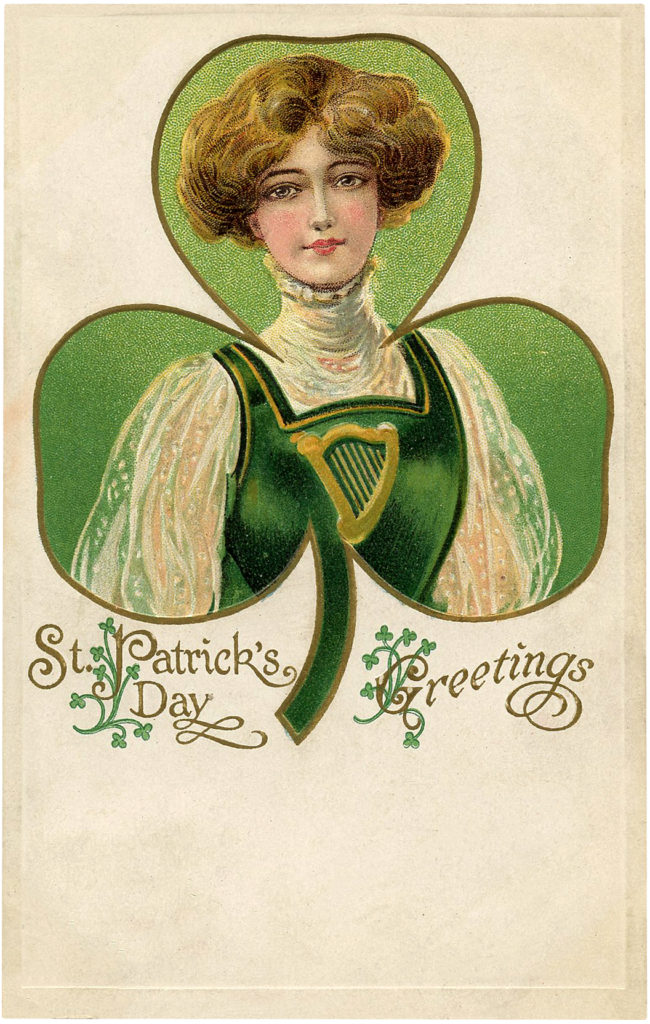 Irish Shamrock Lady