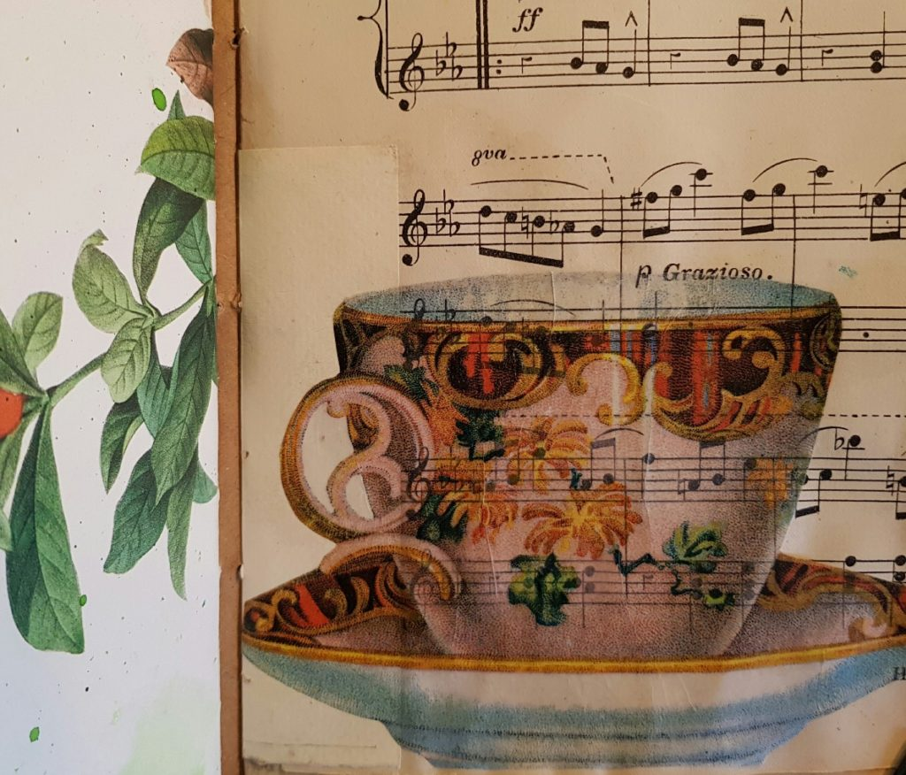 Teacup Page Food Diary Junk Journal