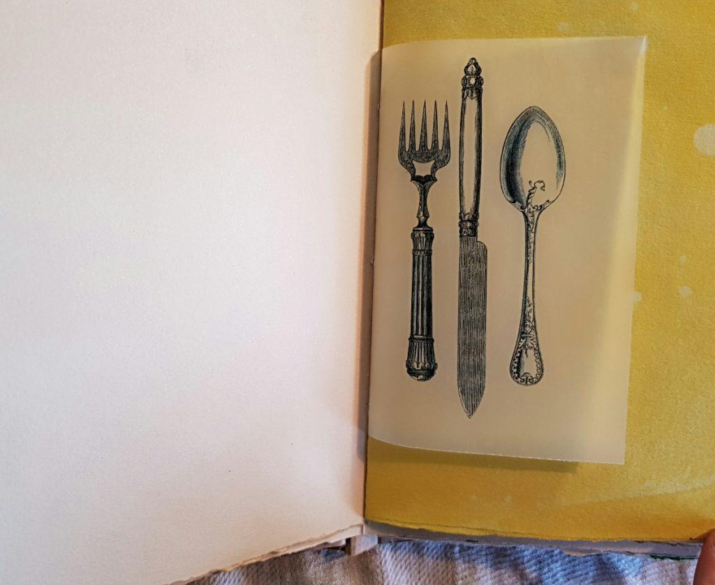 Beautiful Utensils Image from Food Diary Junk Journal