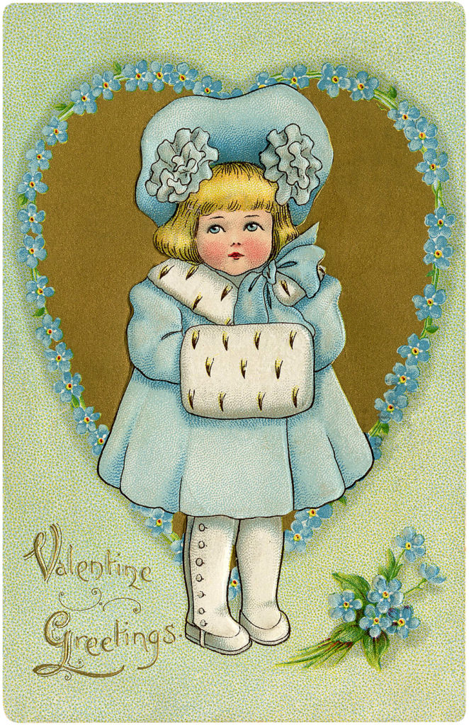 Valentine Child Image Girl in Blue
