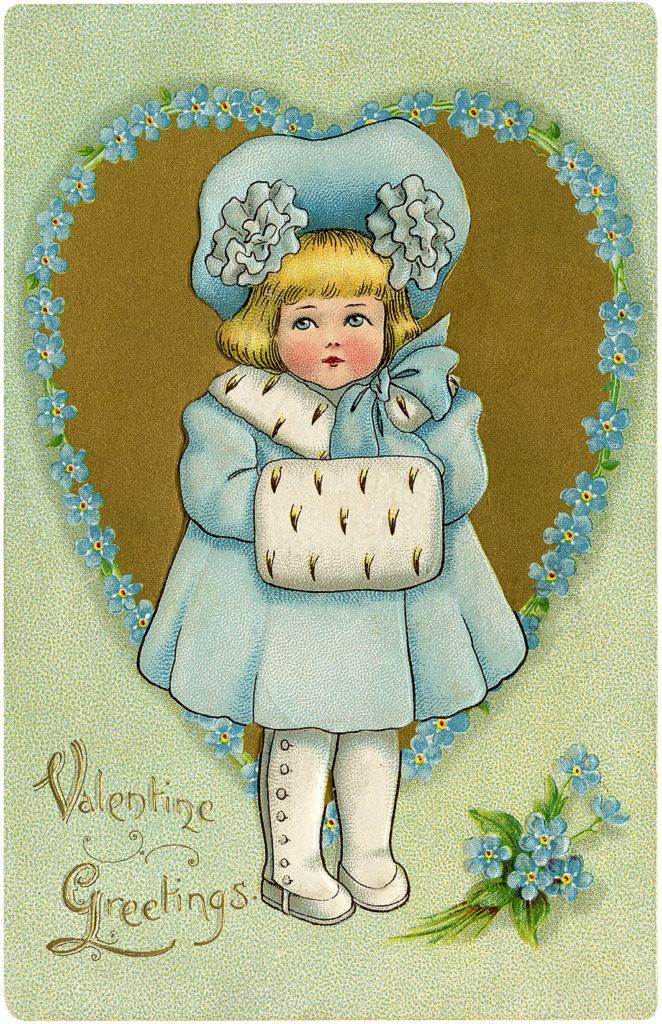 Valentine Child Image Girl in Blue