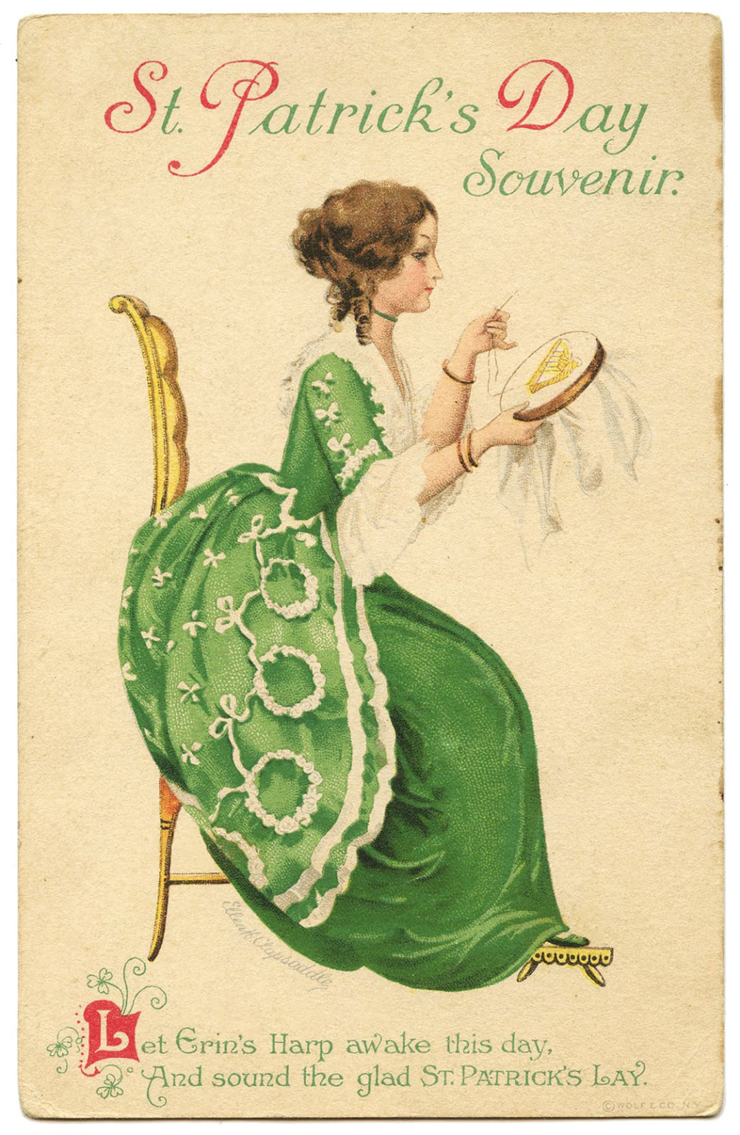 Vintage-Image-St-Patricks-Day-Lady-Sitting-GraphicsFairy-1