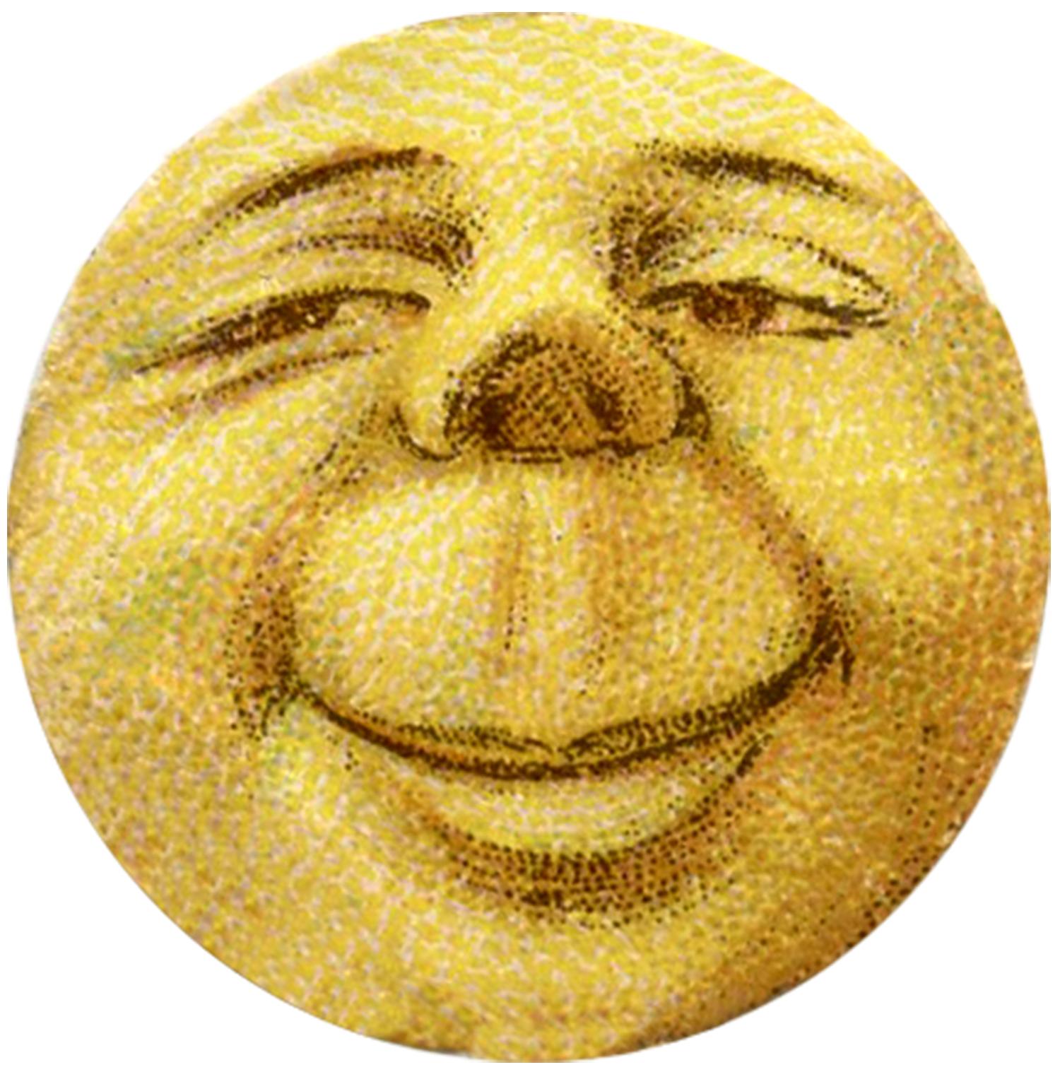 vintage Moon Face Image