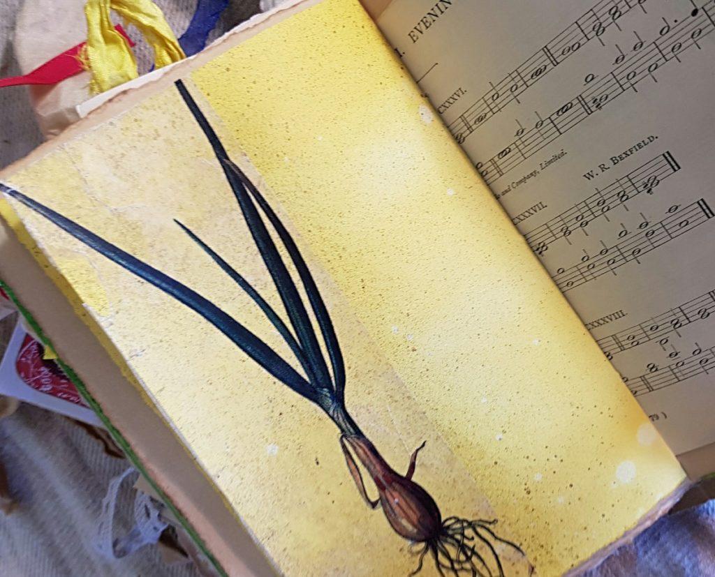 Wild Onion Teacup Food Diary Junk Journal