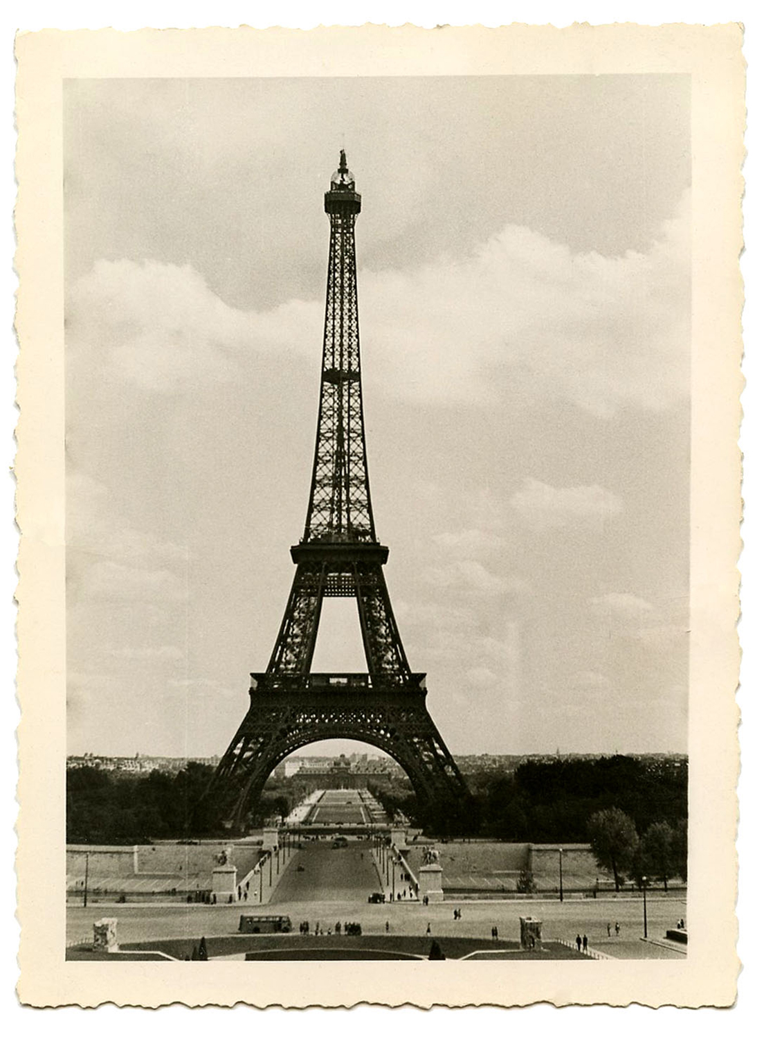 Eiffel Tower Photo Vintage BW