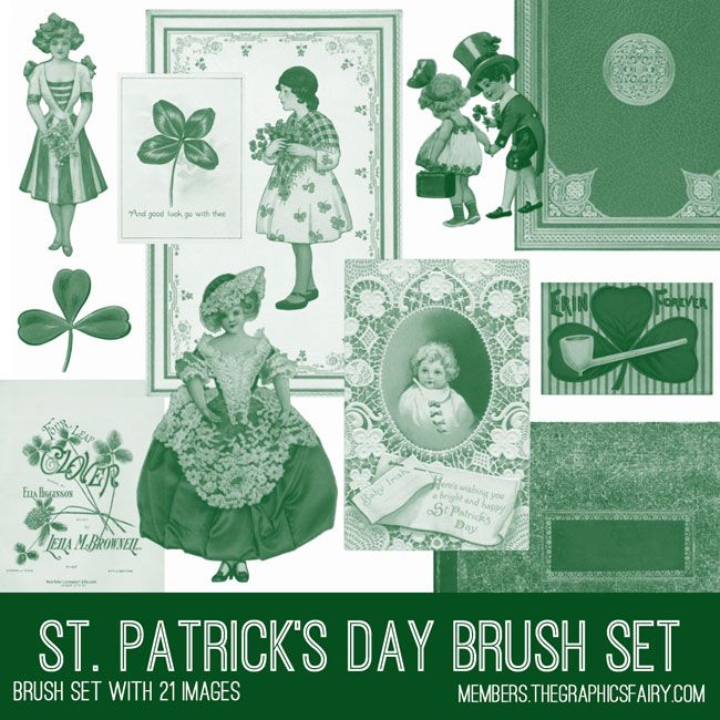 St Patrick's Day Brush Set